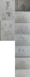 Recent and old sketches and doodles (PNG) by Joy144SK