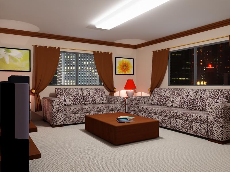 Living Room Night living room night lightms4d on deviantart