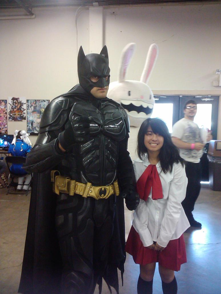 Ib and Batman by FlawedFlare