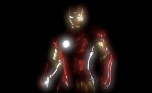 Glowing Iron Man