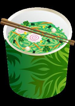 Seafood Vegetables Instant Noodles