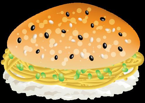 Burger Edamame Face Sushi