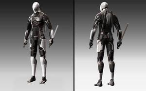 Cyborg shock trooper by JesperLoveus