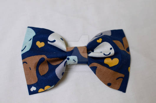Whale Patterned Bow