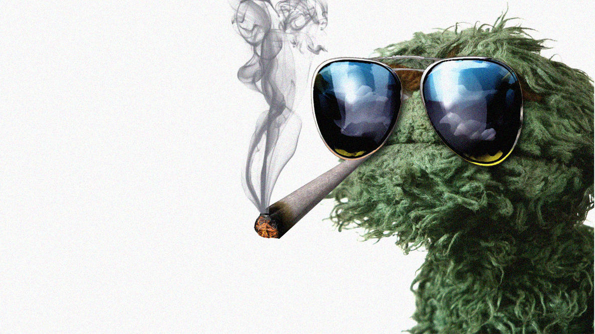 grouch_weed_smoker_by_flippedblink-d3dqf
