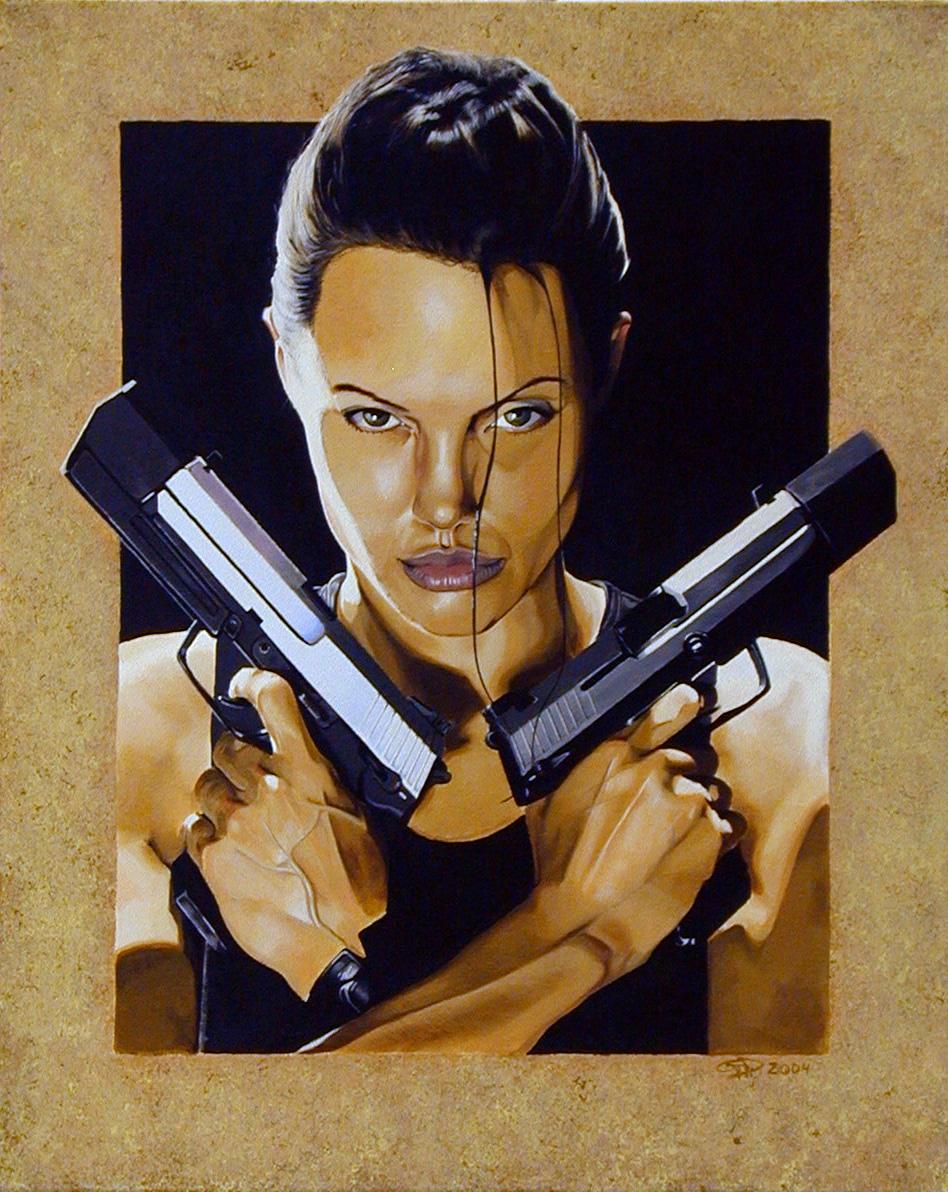Lara Croft AKA Angelina Jolie by whiskeyxray