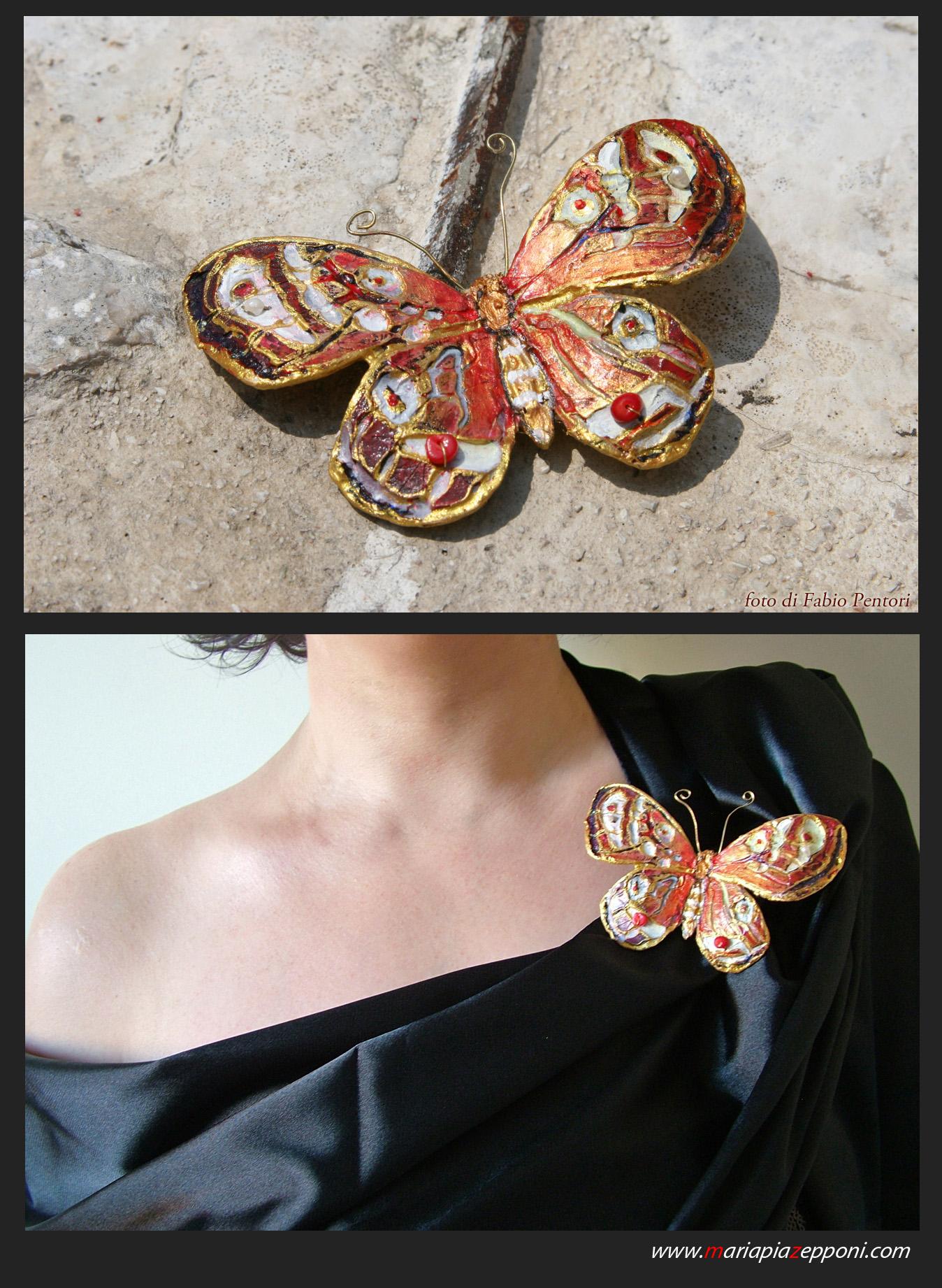 Jewels-Butterfly pin by pittyarte