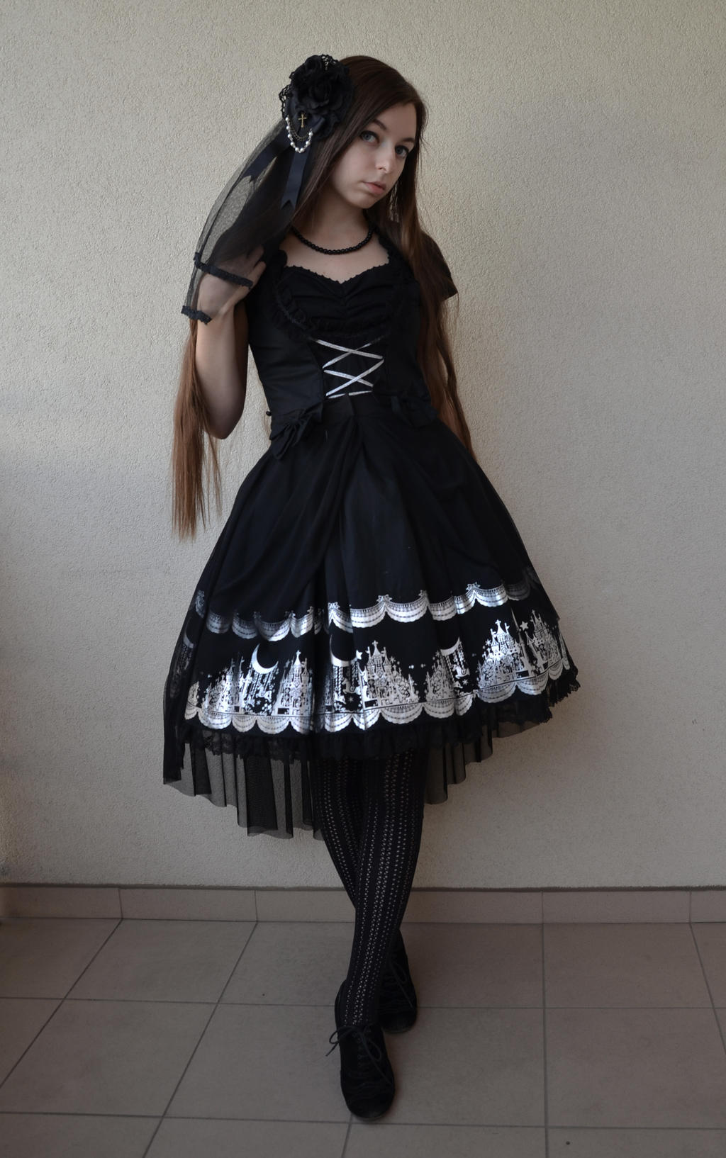 Gothic Lolita castles and chiffon 2 by sarielowa