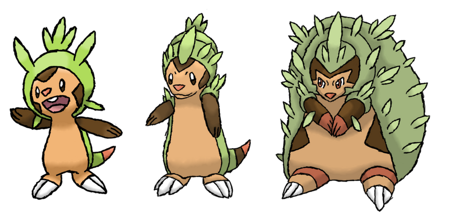 Pokemon X And Y Chespin Evolution Pokemon 6th Generation...