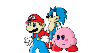 Mario, Kirby, and Sonic