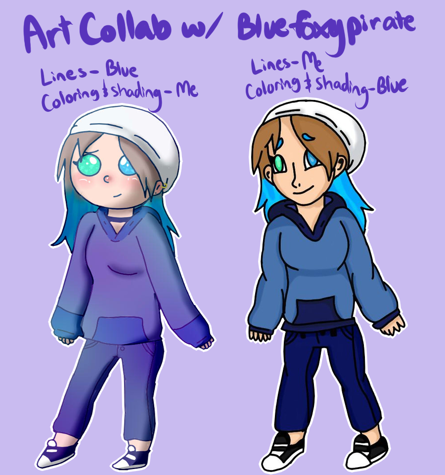Art collab with Bluefoxypirate by Raymour on DeviantArt