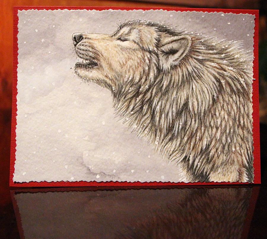 Wolf Card by Sidonie