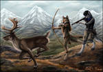Caribou Hunt by Sidonie