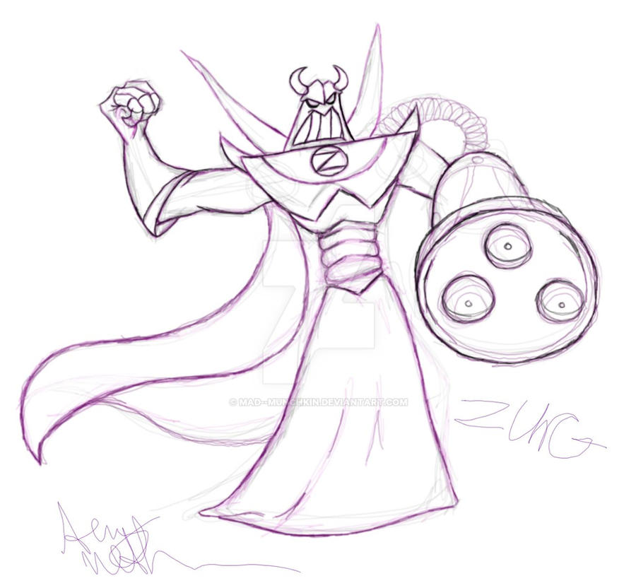 evil emperor zurg by mad munchkin on deviantart buzz and zurg coloring pages