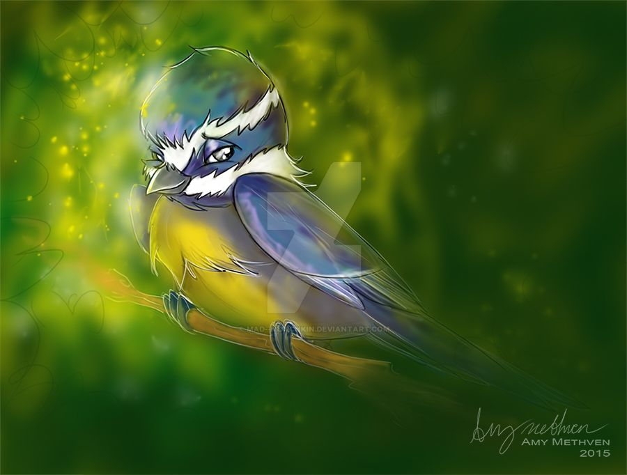 Blue Tit by Mad--Munchkin