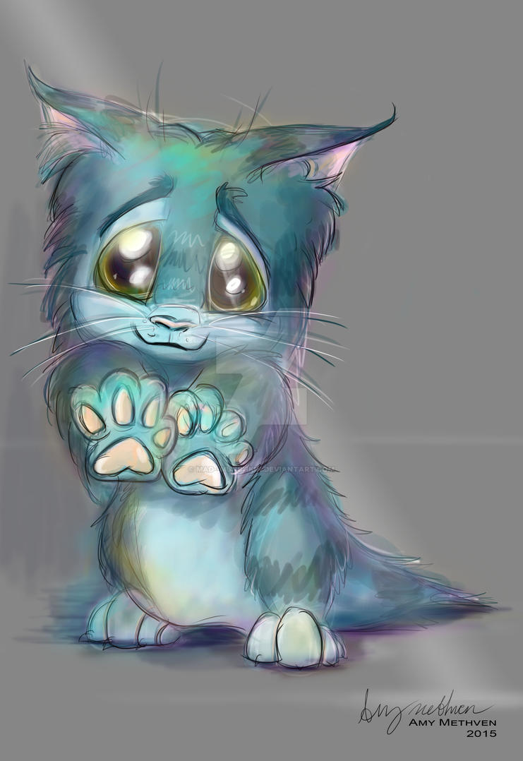 Blue Kitty by Mad--Munchkin
