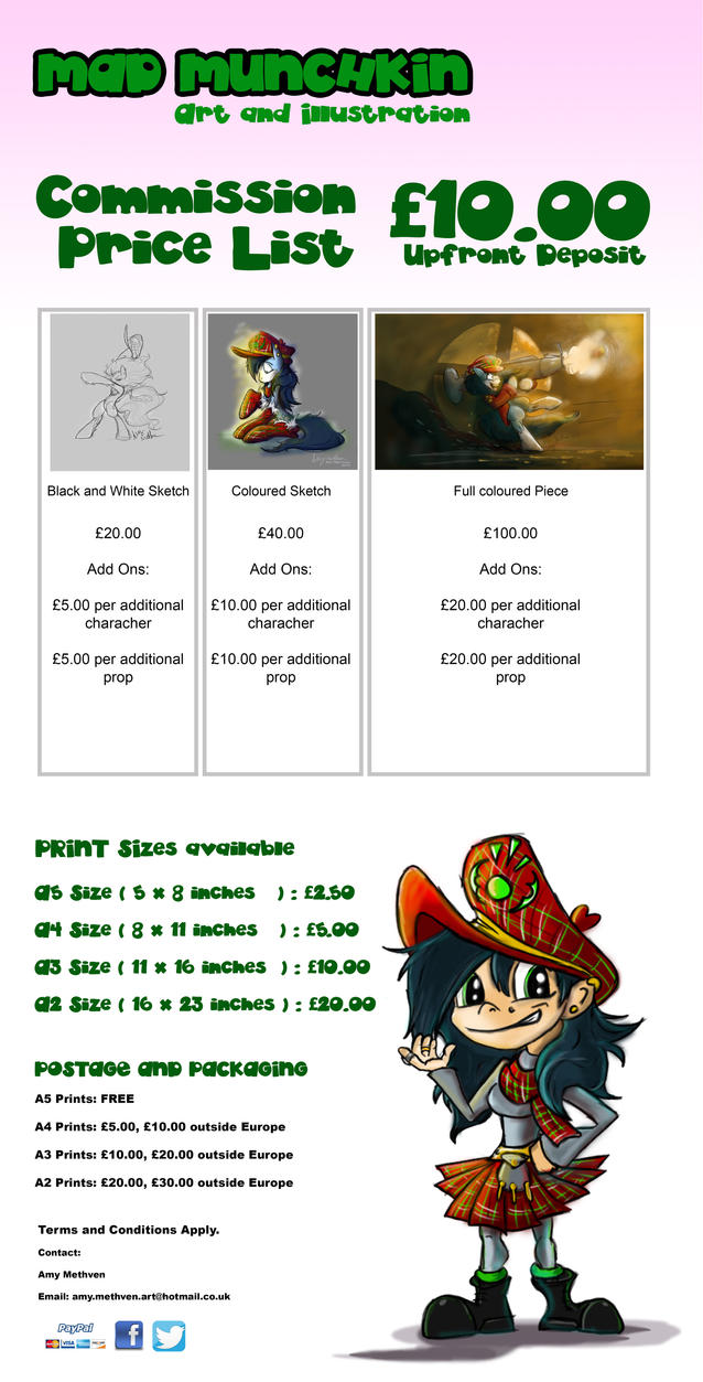 Commission Price Catalog 2016 by Mad--Munchkin