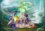 (Commission) Rainbow Dash and Twilight Sparkle