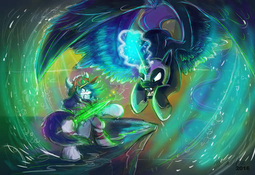 Maddy fights Nightmare Moon