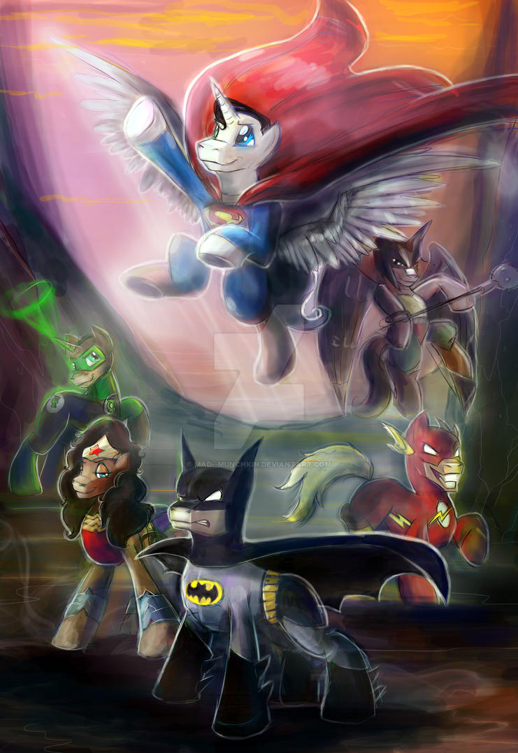 Justice League ponies by Mad--Munchkin