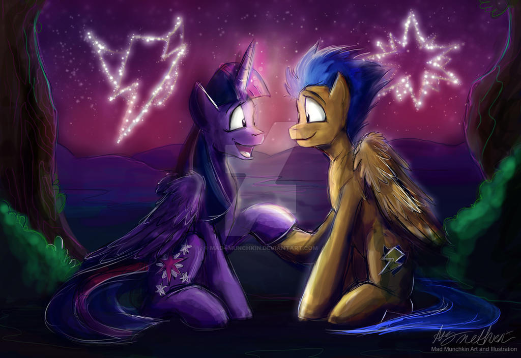 Commission Twilight Sparkle And Flash Sentry By Mad Munchkin On