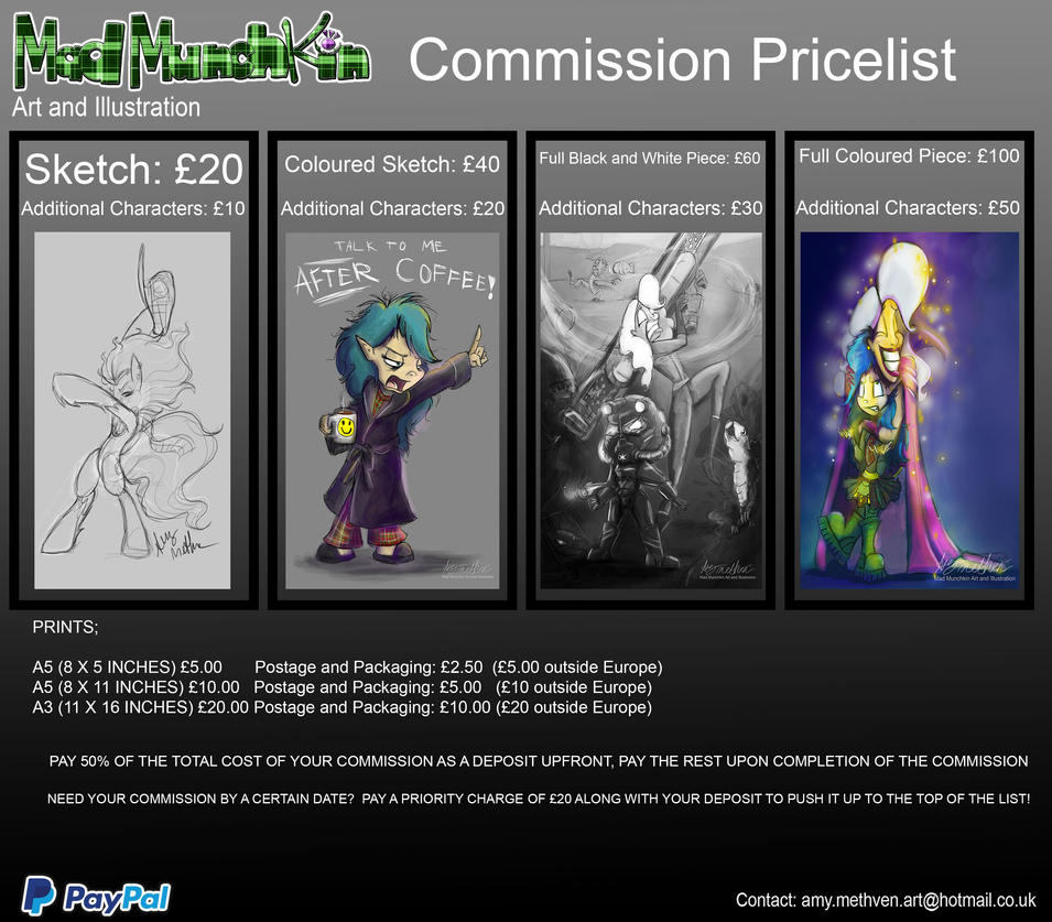 Commission Price List 2017 September by Mad--Munchkin