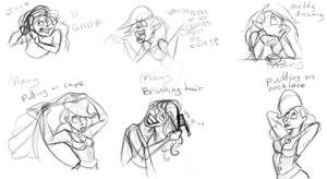 Maddy and Mary sketch dump 3