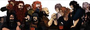 hobbit:13 dwarves+bilbo baggins.