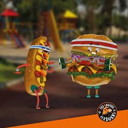 hamburguesin y hotdogsin