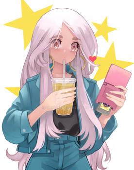 Boba tea Girl