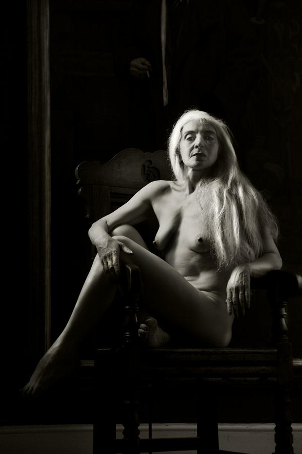 Chair with Nude Figure by Solus-Photography