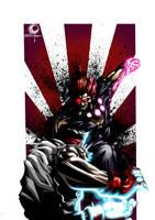 Ryu vs Akuma by TheDoodleMan