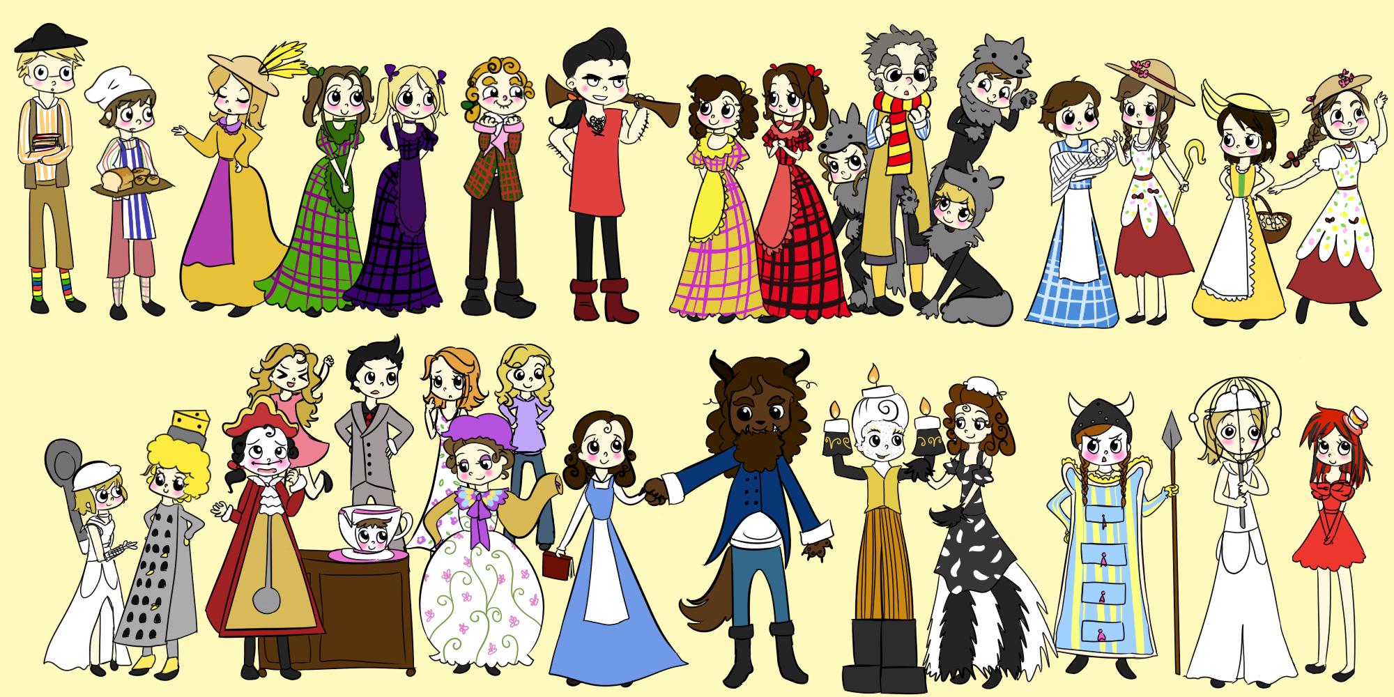 Meowkin 141 85 Cast Of Beauty And The Beast By