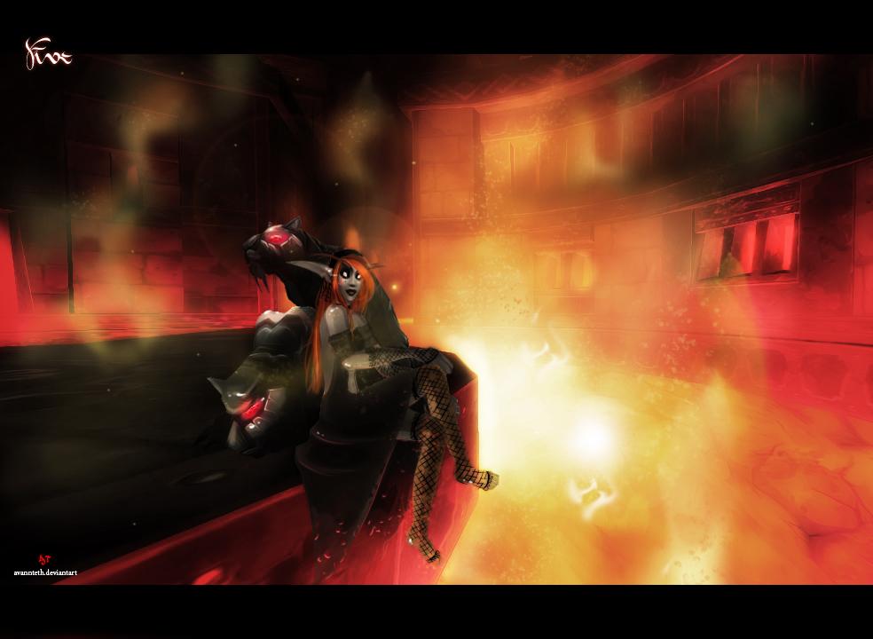 Goddess of Fire v2 by AvannTeth
