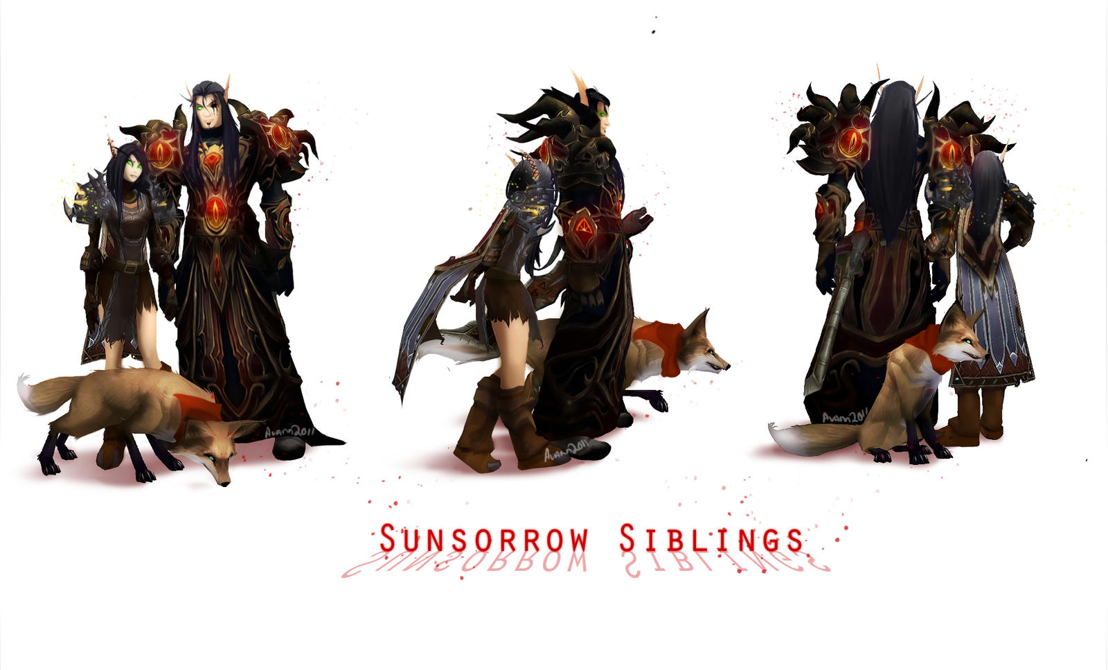 Sunsorrow Siblings by AvannTeth