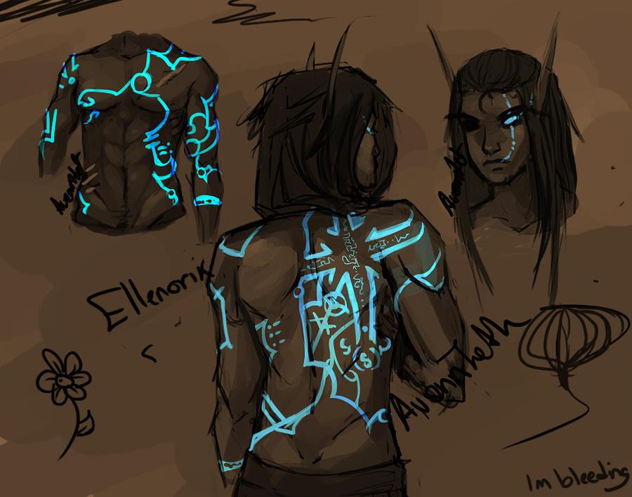 Ellenorix stress sketches by AvannTeth
