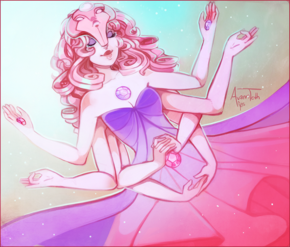 tumblr loved the butts out of this so I thought I'd post it my color interpretation of the Temple Goddess on Steven Universe! speed paint: www.youtube.com/watch?v=EoDC2d…