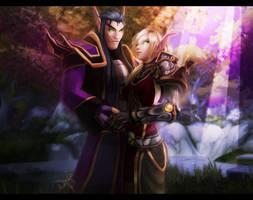 Sakialyn and Cynel by AvannTeth