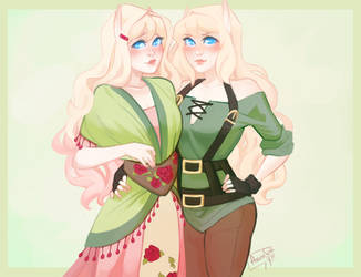 Auralie and Avilae by AvannTeth