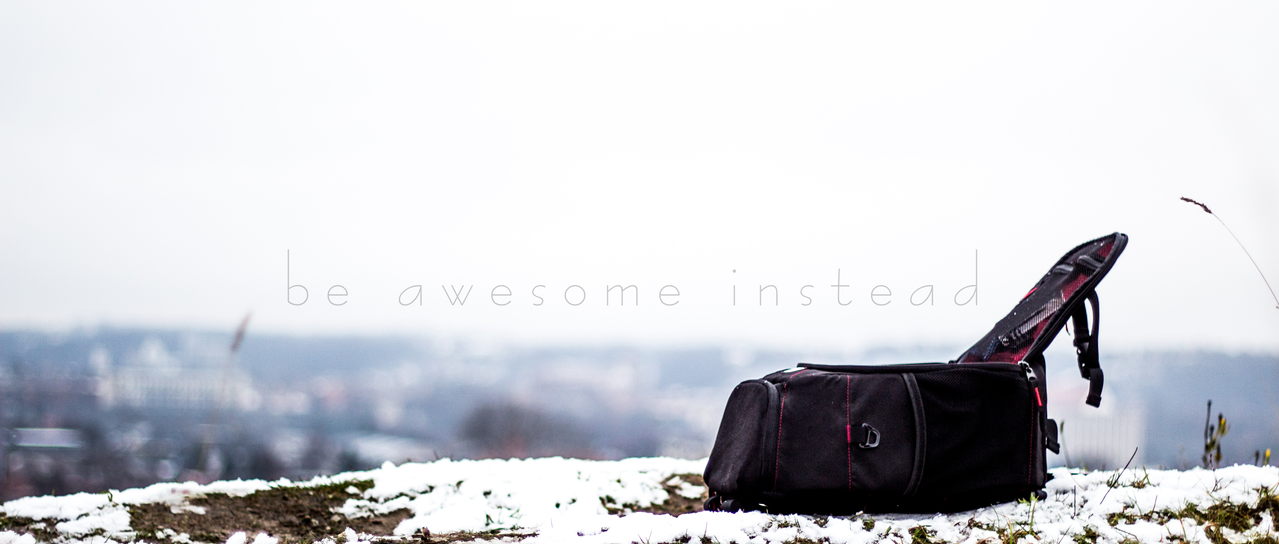 Be awesome on an awesome winter day by TomasLiutvinas