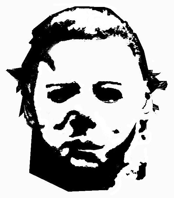 michael myers coloring pages - michael myers stencil by reddrmario on deviantart