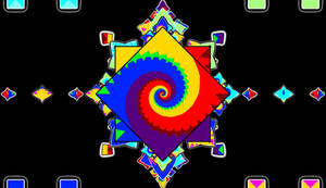 600 Tall -  Multi Mirrorcoffee Cup Art Rainbow Squ
