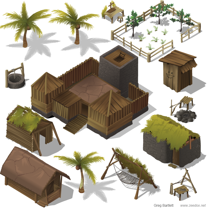 Robinson Crusoe Game assets by zeedox on DeviantArt
