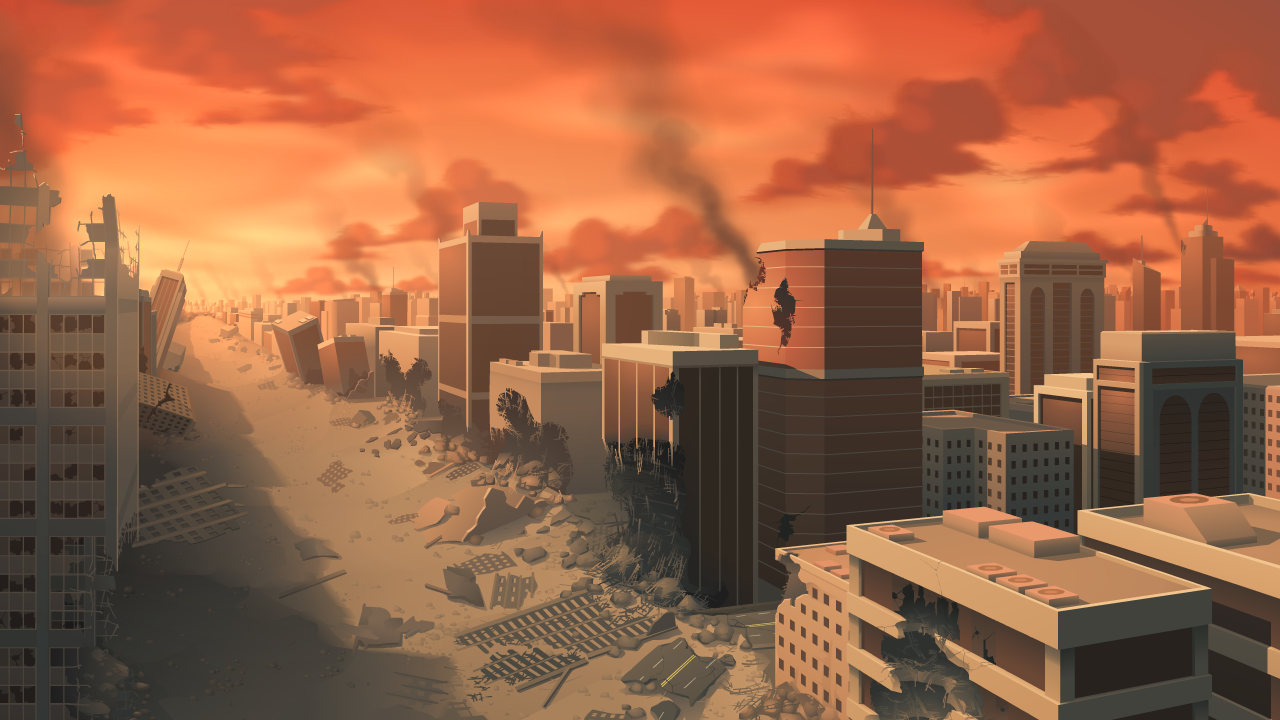 City Destruction - Background Art by zeedox on DeviantArt for City Background Png  186ref