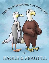 Eagle and Seagull by Pedantia