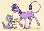 Twilight and Spike in the Nostrilverse