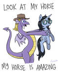 I AM AN AMAZING HORSE by Pedantia