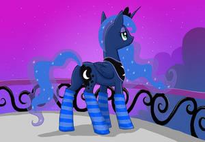 Luna on her balcony