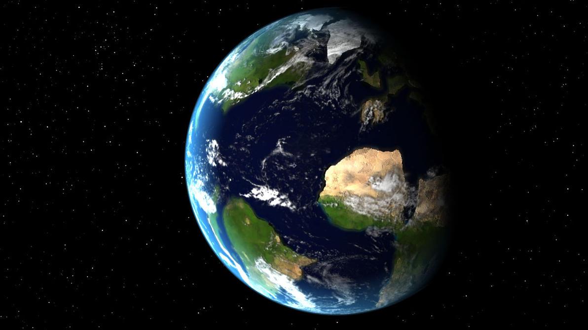 Cretaceous Earth Render (Test) by GaryMotherPuckingOak