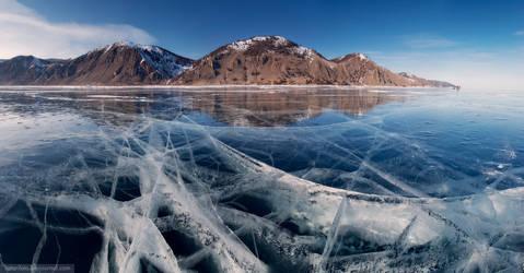 Baikal ice by satorifoto
